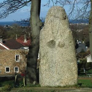 The Statue-Menhir at Castel Church Guernsey